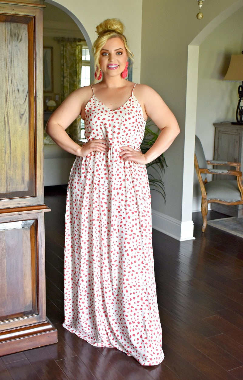 Load image into Gallery viewer, Give Me Joy Print Maxi Dress - Ivory