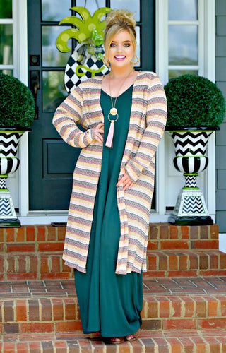 Thought You Knew Striped Cardigan - Multi