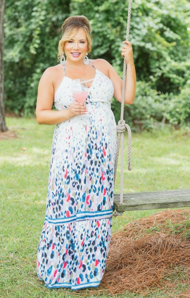 Load image into Gallery viewer, A New Vision Print Maxi Dress