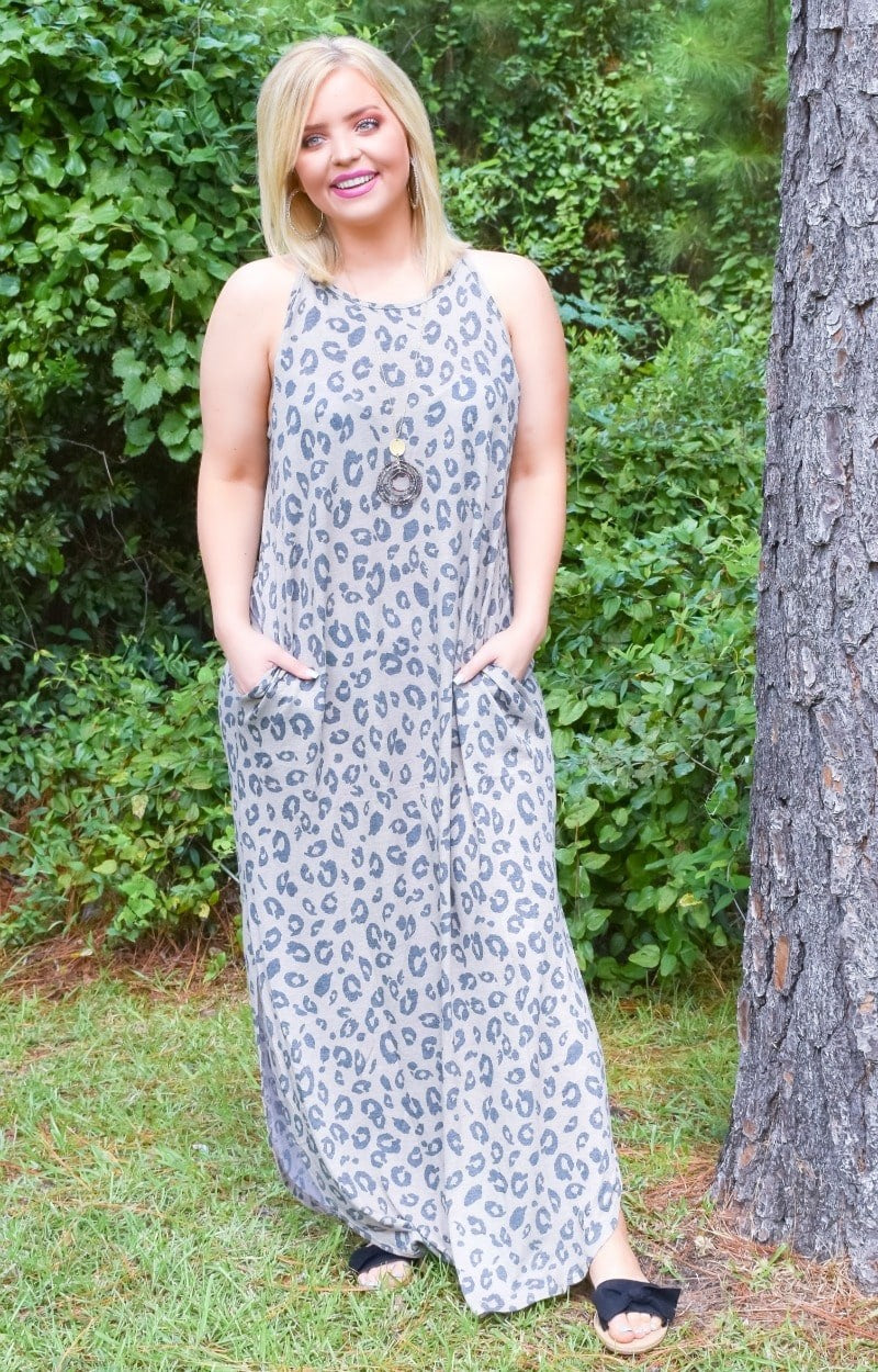 Caught In The Moment Leopard Print Maxi Dress
