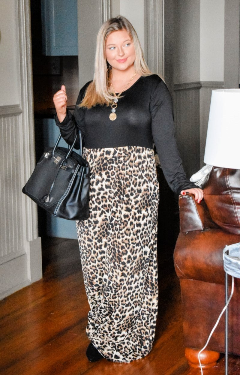 More To Give Leopard Print Maxi Dress