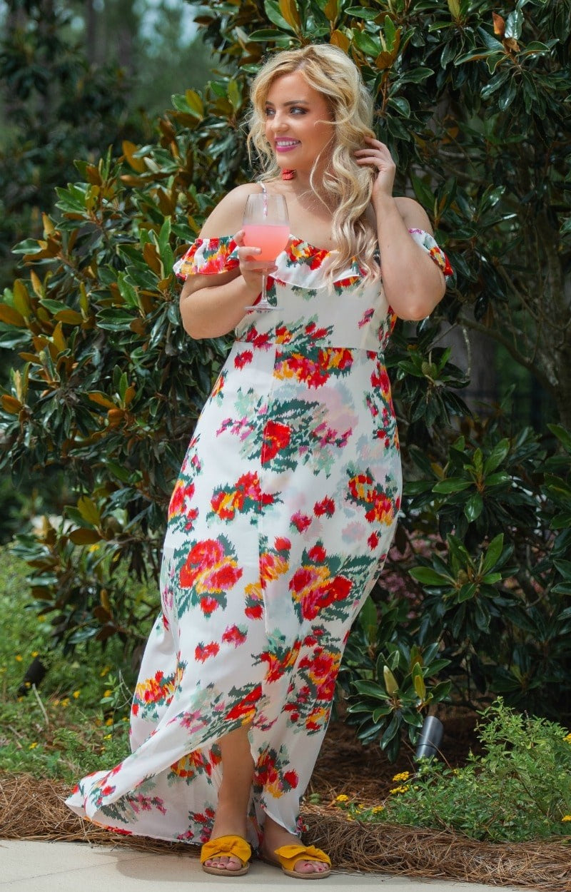 Load image into Gallery viewer, Headed To Paradise Floral Maxi Dress