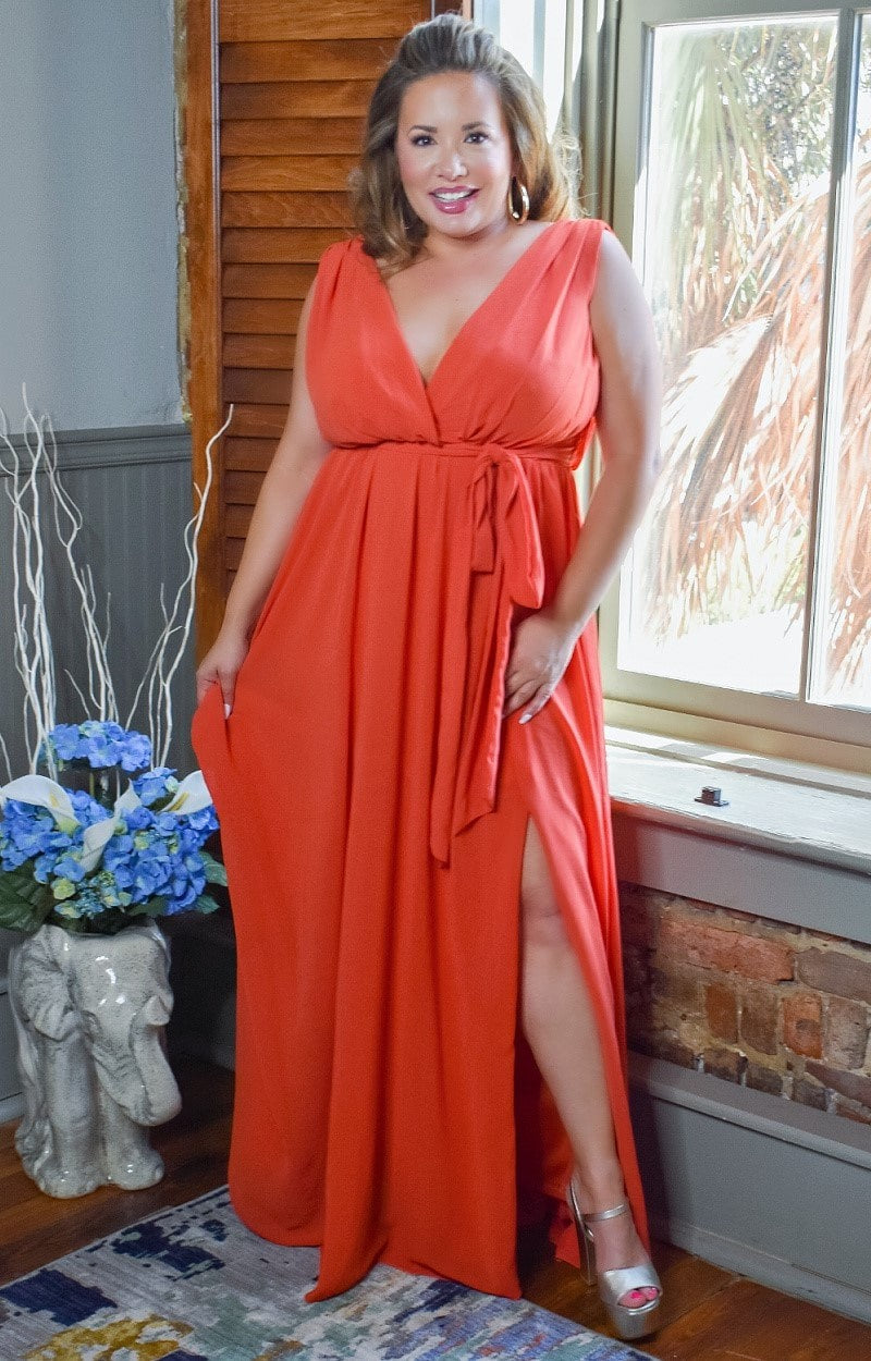 Load image into Gallery viewer, You're Enough Maxi Dress - Dark Orange