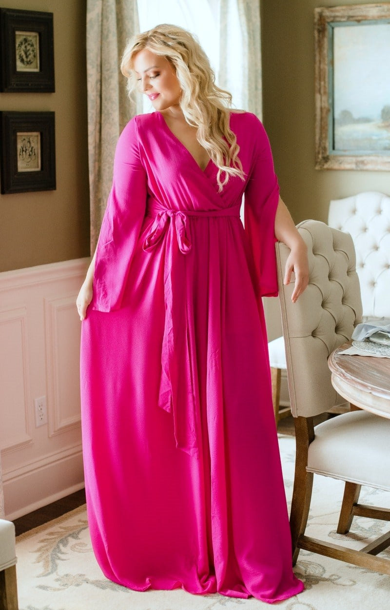 Load image into Gallery viewer, Naturally Sweet Maxi Dress - Magenta