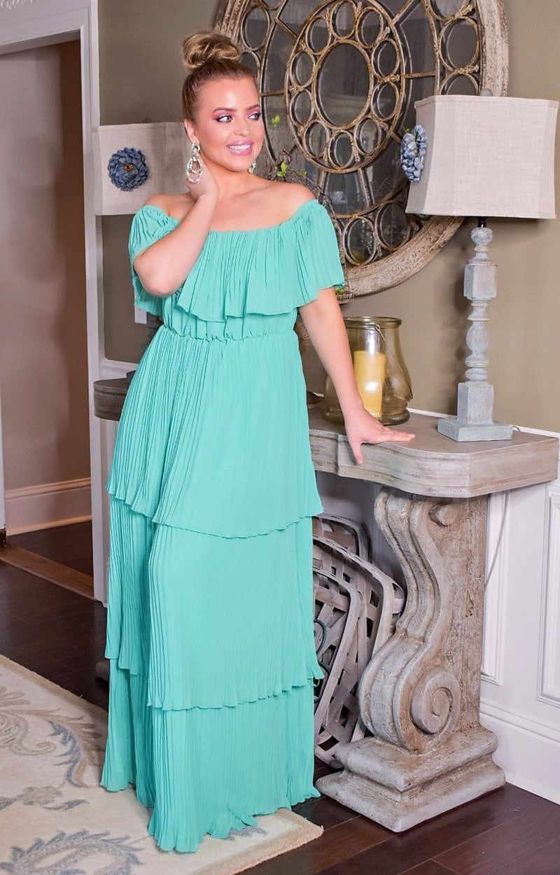Load image into Gallery viewer, Best Believe It Maxi Dress - Mint
