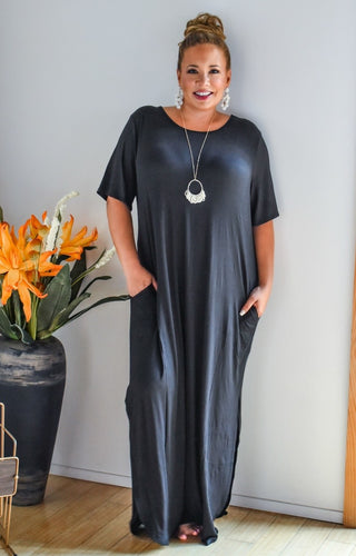 Don't Break My Heart Maxi Dress - Black
