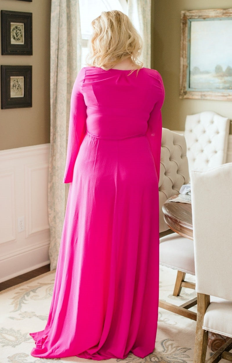 Naturally Sweet Maxi Dress - Magenta
