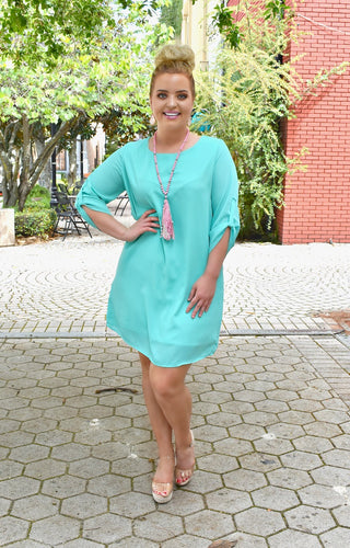 Set The Tone Dress - Mint