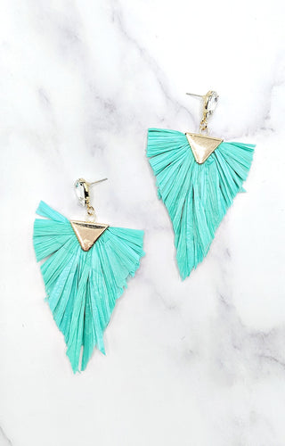 All The Thrills Earrings - Mint