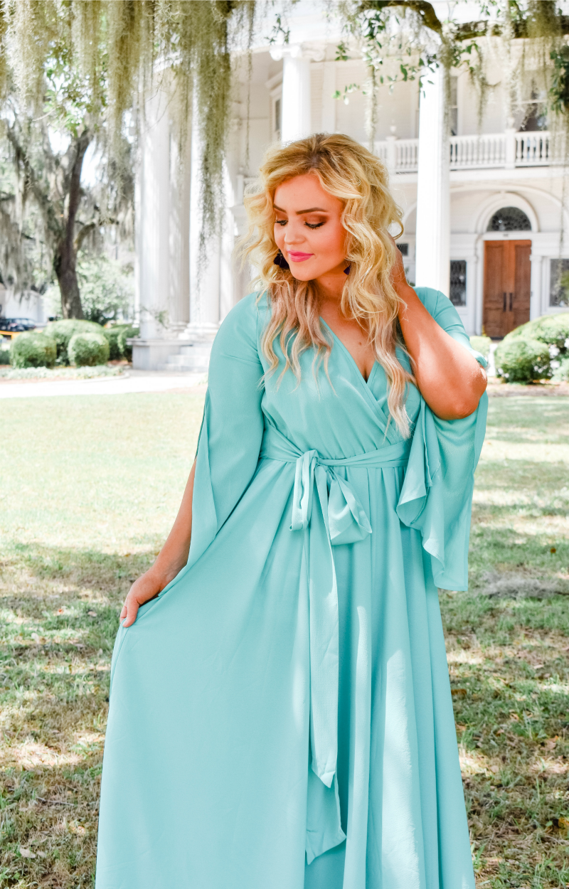Naturally Sweet Maxi Dress - Turquoise