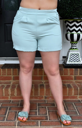 In Her Element Shorts - Powder Blue