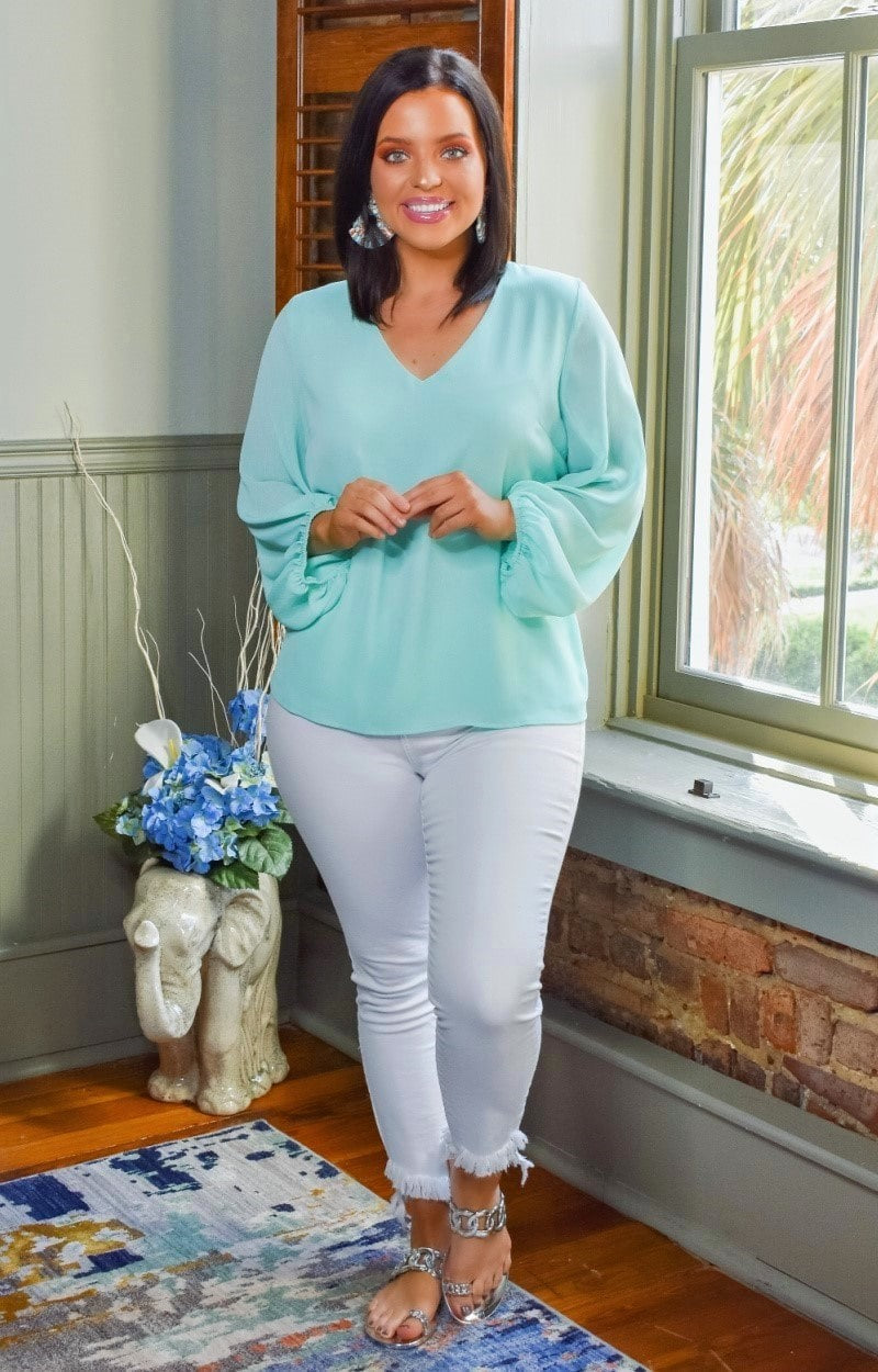 Stroll In The Park Top - Mint