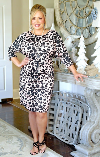 Moments Away Leopard Print Dress - Pink
