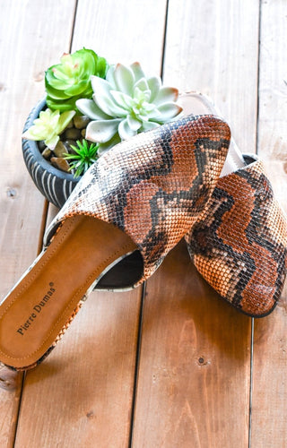 Best Laid Plans Snake Print Mules