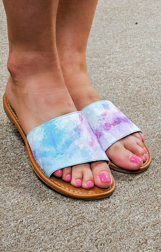 Keep Life Simple Tie Dye Flats