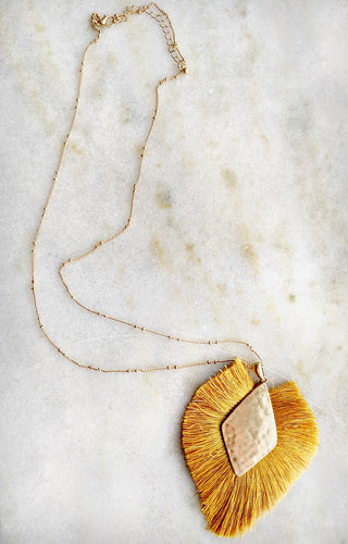 In My Element Necklace - Mustard
