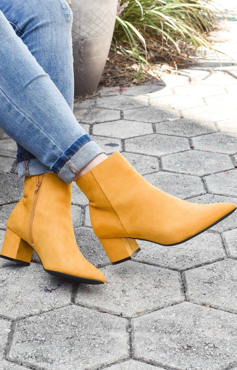 Load image into Gallery viewer, My Sidekick Ankle Booties - Mustard