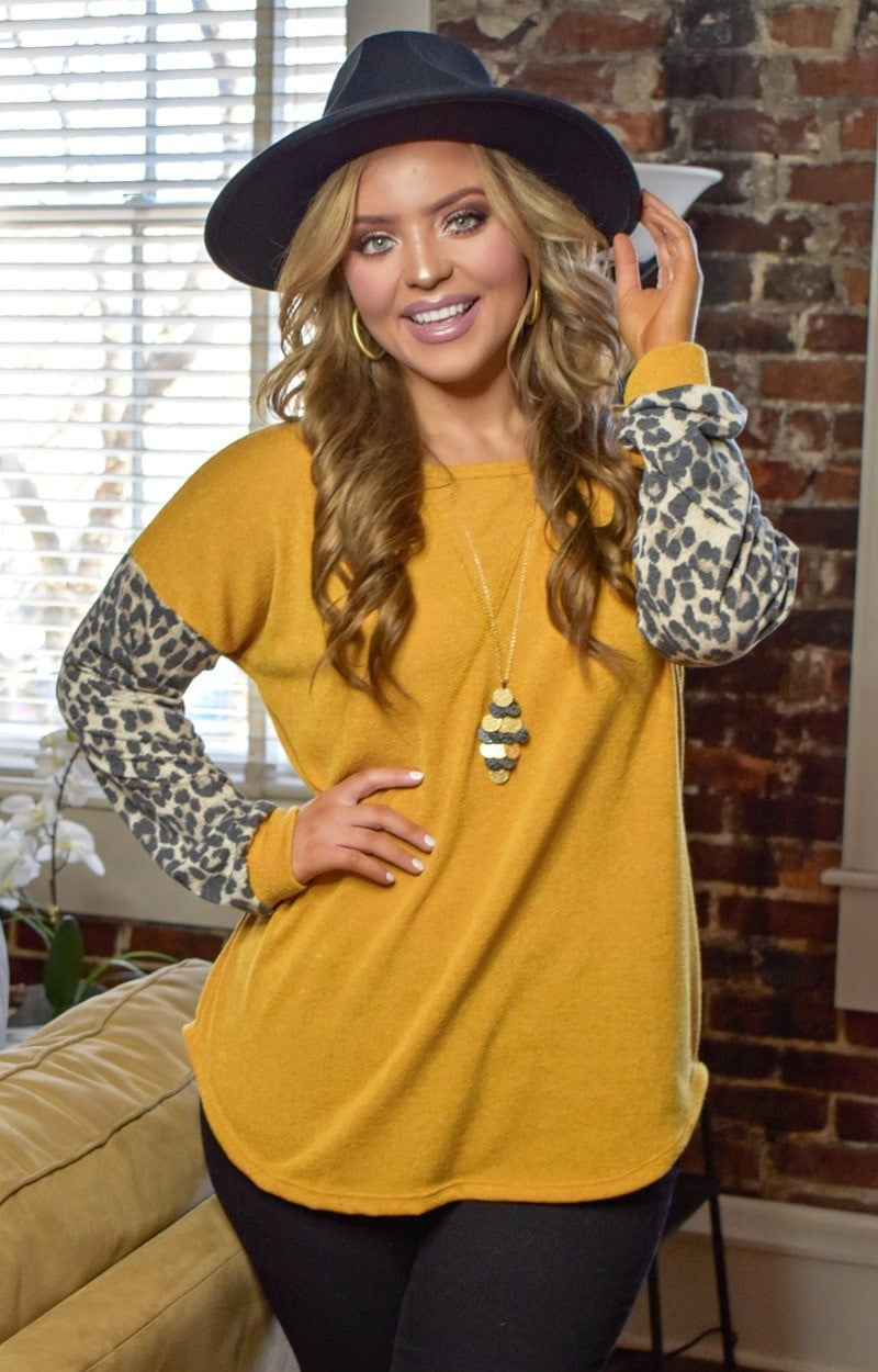 Load image into Gallery viewer, Bundle Of Fun Leopard Print Top - Mustard
