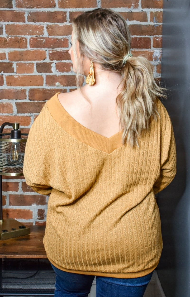 Load image into Gallery viewer, Burn It Up Oversized Sweater - Mustard
