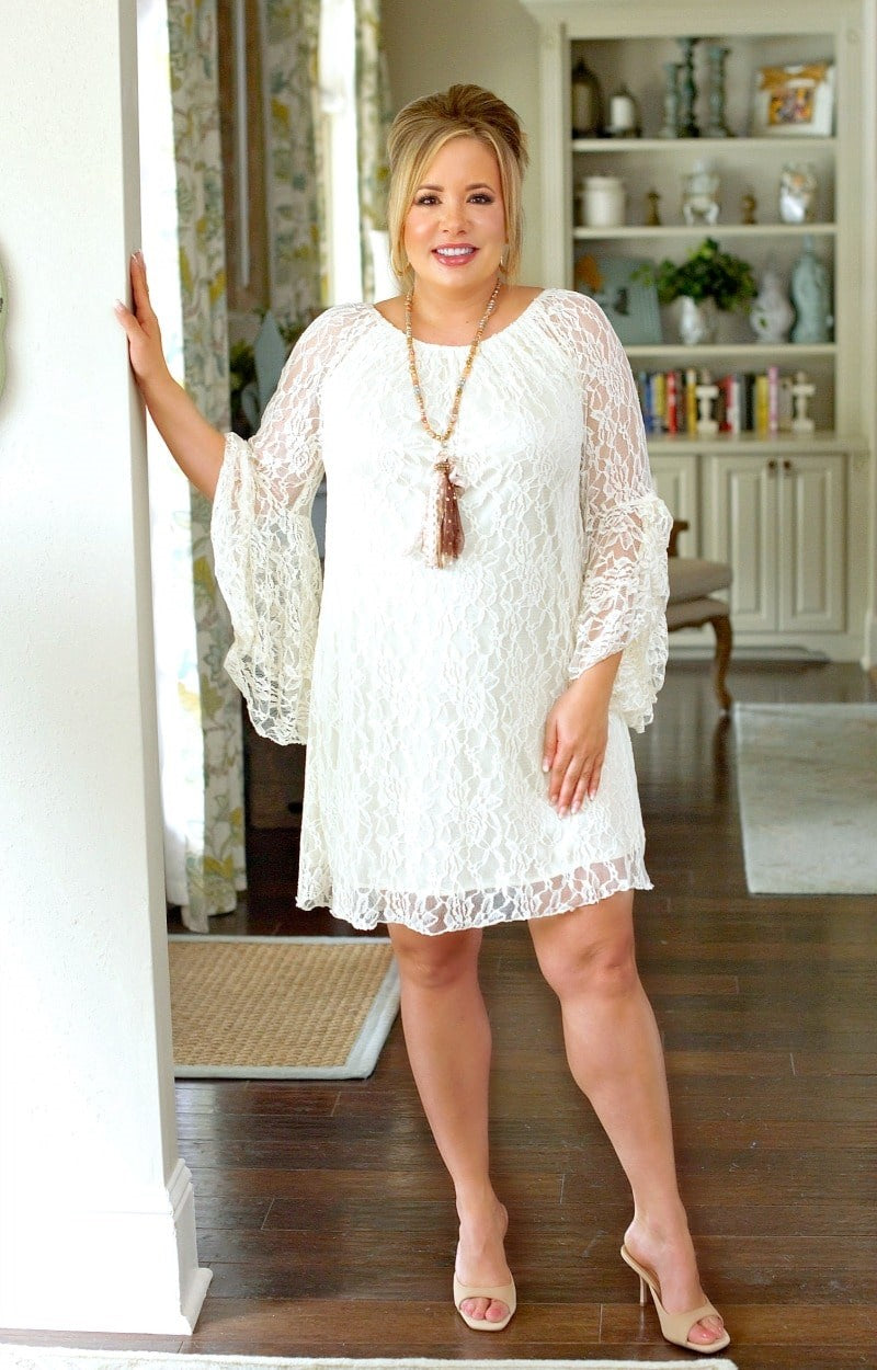 Load image into Gallery viewer, Must Be True Lace Dress - Cream