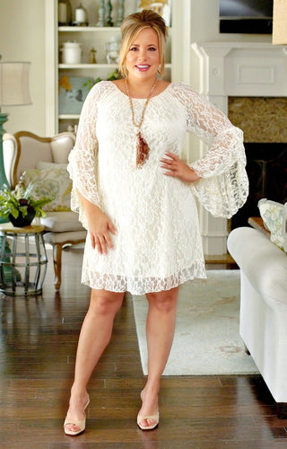 Must Be True Lace Dress - Cream