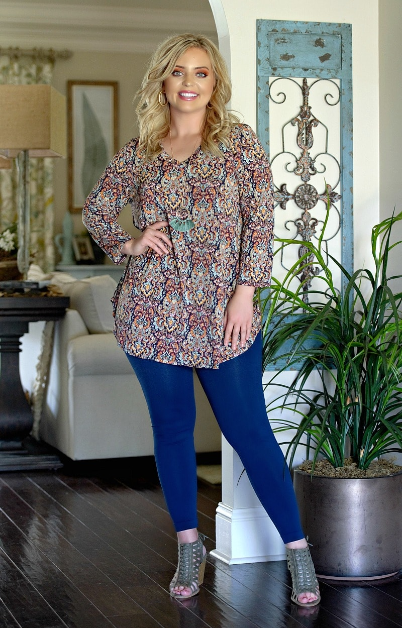 More Attention Print Top - Multi
