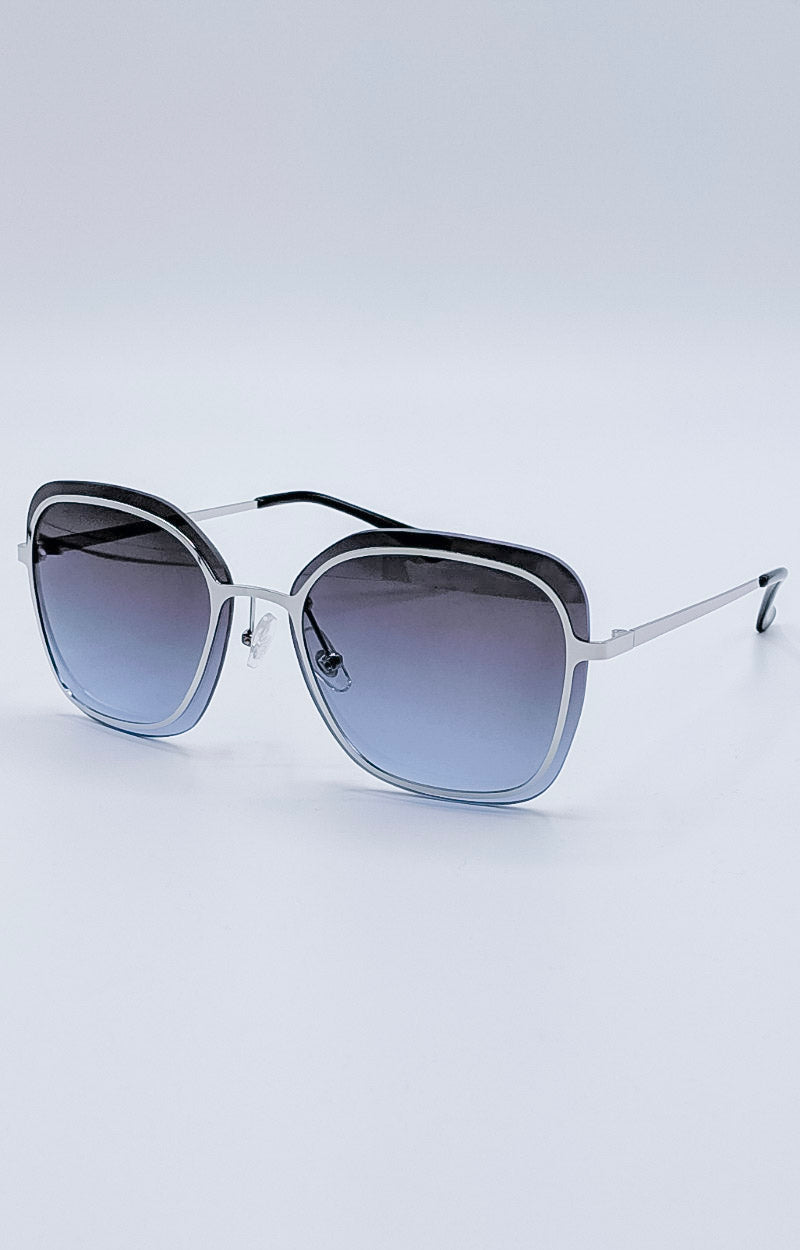 Load image into Gallery viewer, Ray Of Light Sunglasses - Silver/Smoke