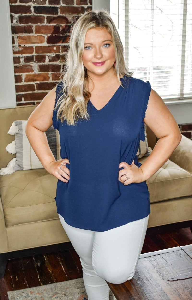 Over The Edge Top - Navy