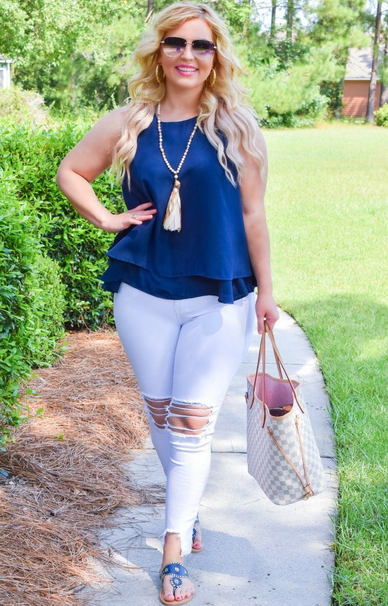 Positively Perfect Top - Navy