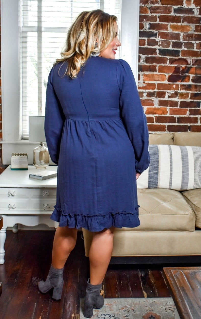 Load image into Gallery viewer, Feeling So Alive Dress - Navy