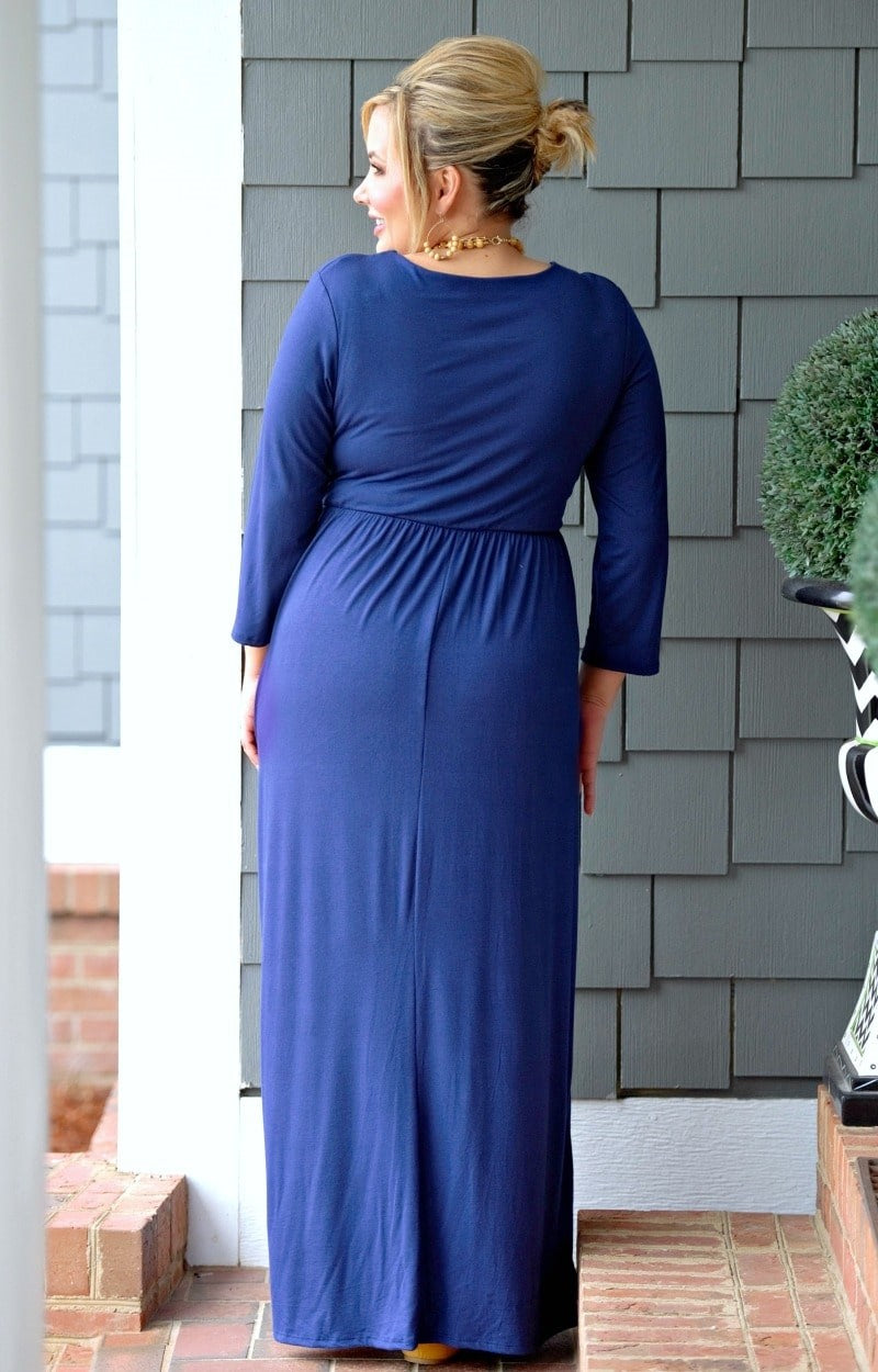 Don't Have Time Maxi Dress - Navy