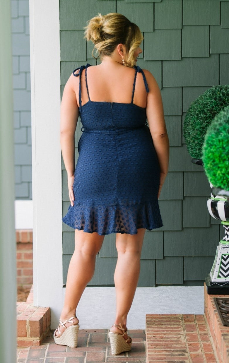Your Every Whim Dress - Navy