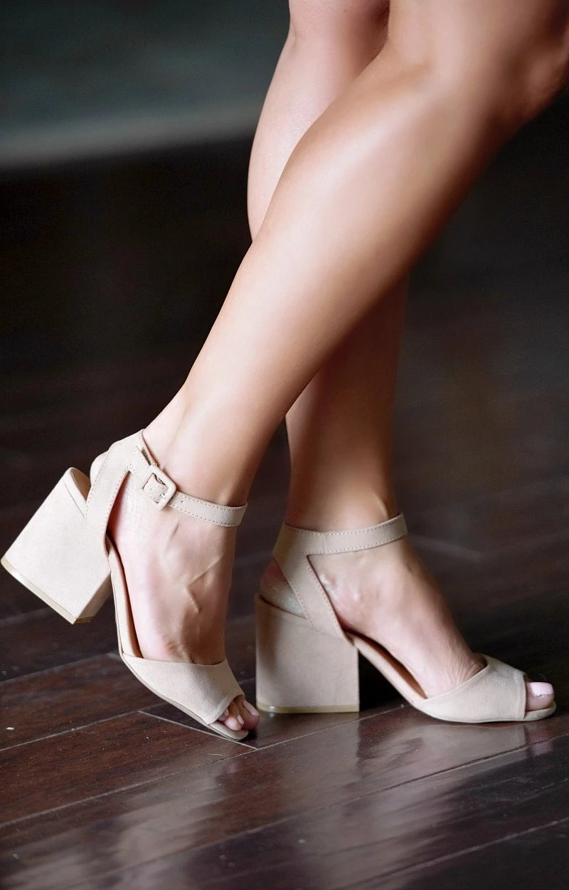 Load image into Gallery viewer, Best By Far Ankle Strap Heels - Taupe