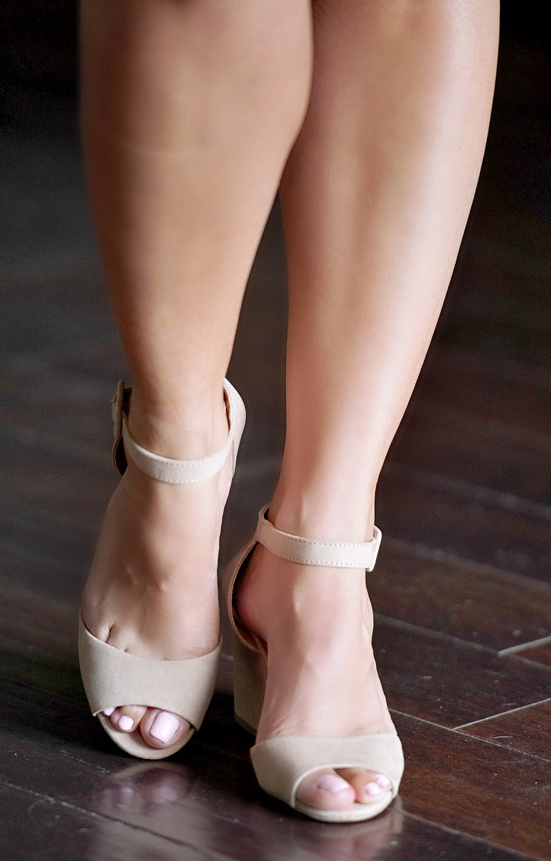 Best By Far Ankle Strap Heels - Taupe