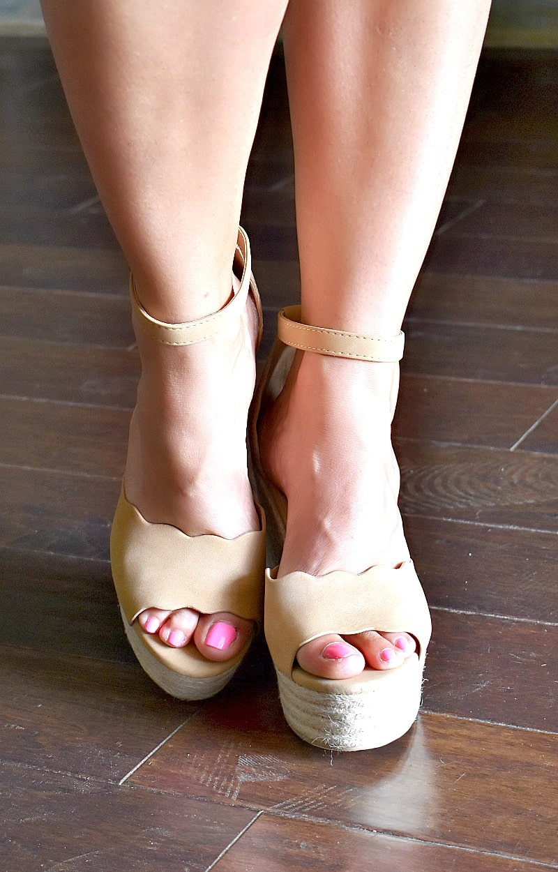 Across The Room Wedges - Natural