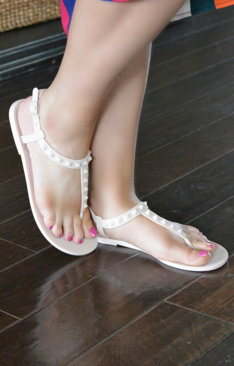 Load image into Gallery viewer, What A Stud Sandals - Nude