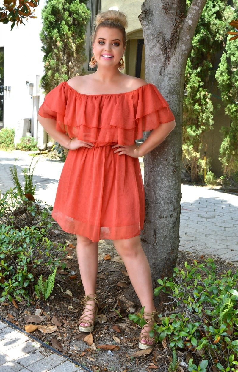 Load image into Gallery viewer, Time To Shine Dress - Coral