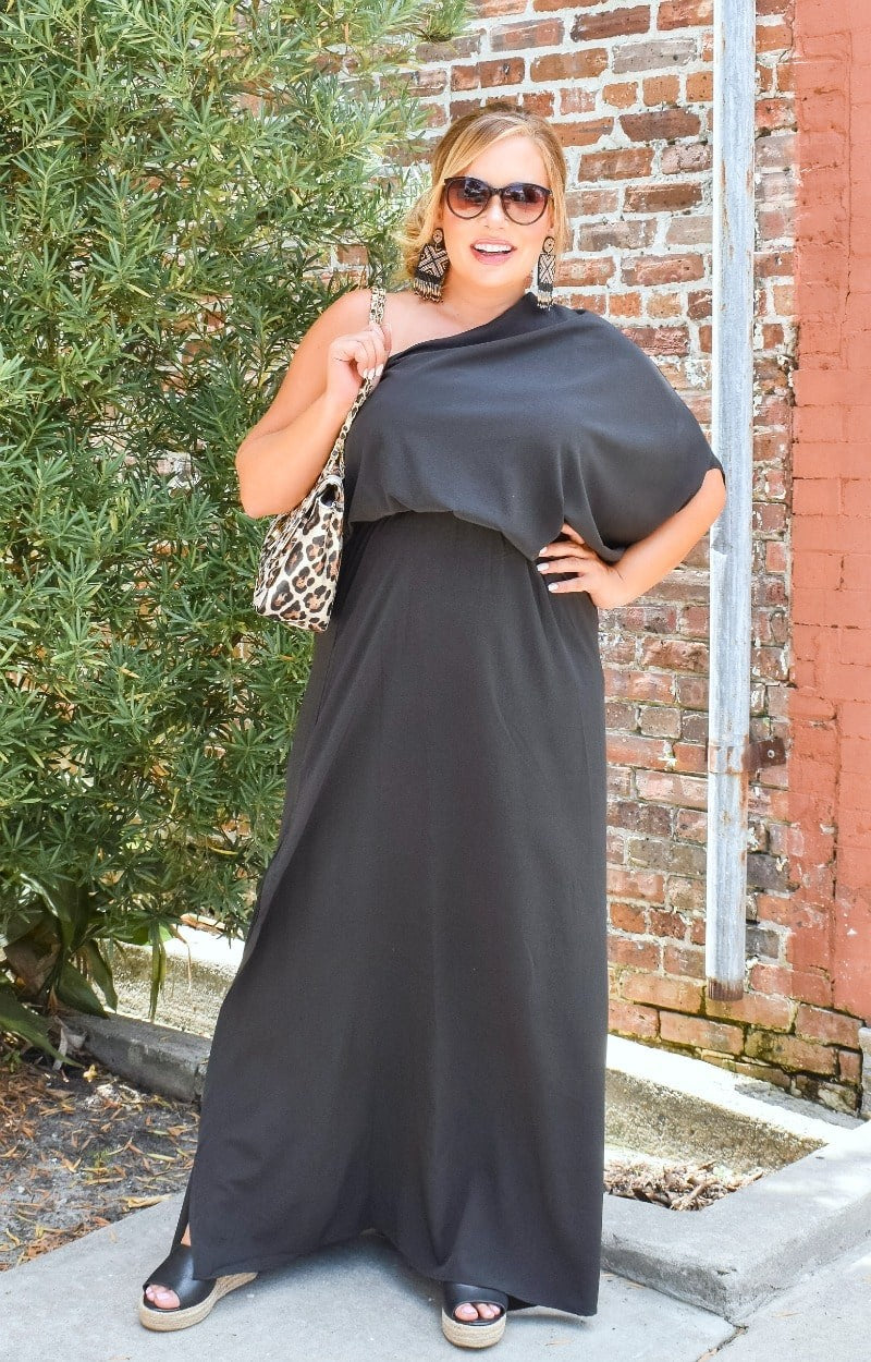 Load image into Gallery viewer, Remember When Maxi Dress - Black