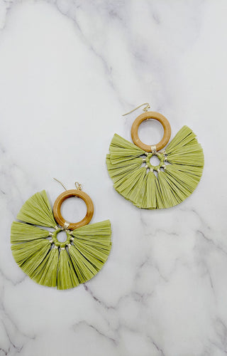Reach Out Earrings - Olive