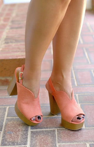 Give It A Chance Slingback Mules - Ash Coral