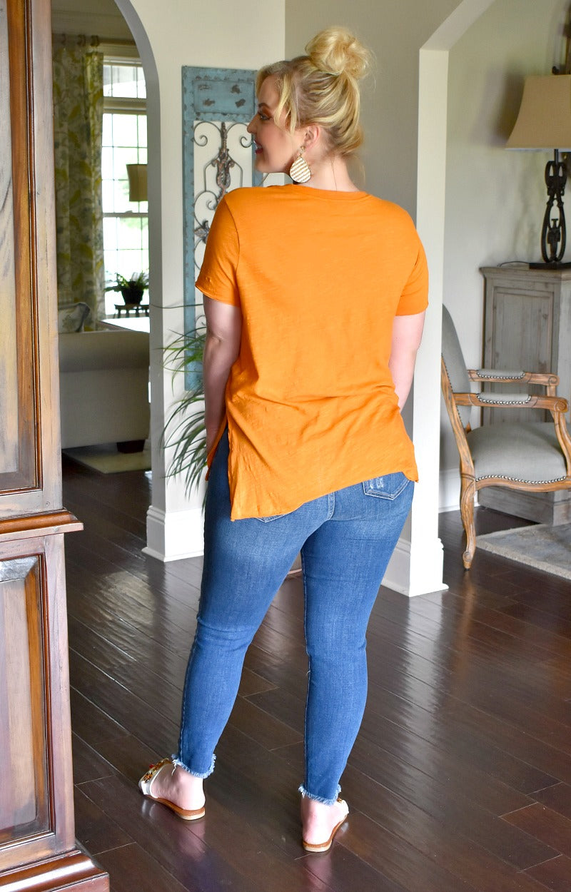 Load image into Gallery viewer, Lounging Around Pocket Tee - Pumpkin