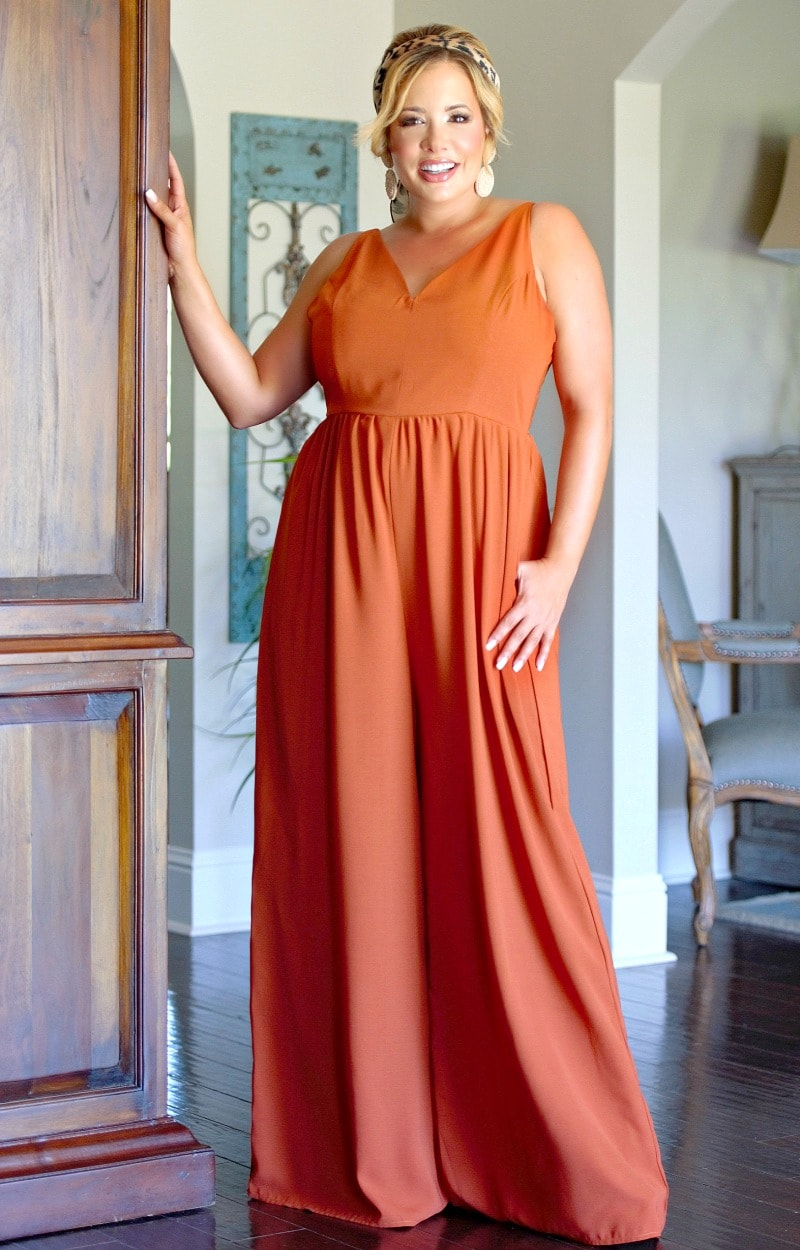 Load image into Gallery viewer, How It Should Be Jumpsuit - Burnt Orange