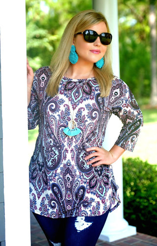 Make An Appearance Print Top - Multi