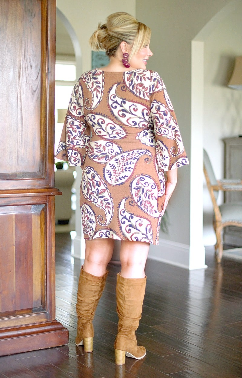 Do It All Again Print Dress - Mocha