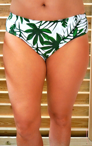 Palm Views Print Bikini Bottoms