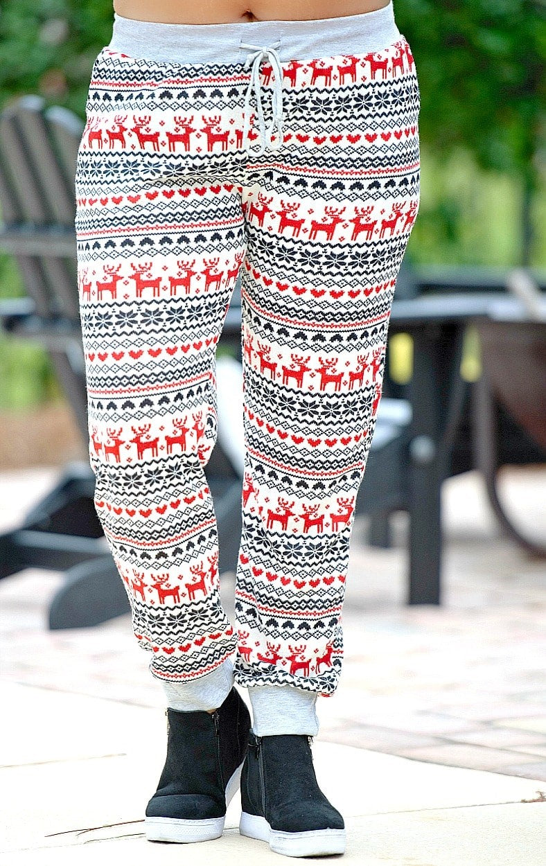 Load image into Gallery viewer, No Weekend Plans Print Joggers - Red/Black