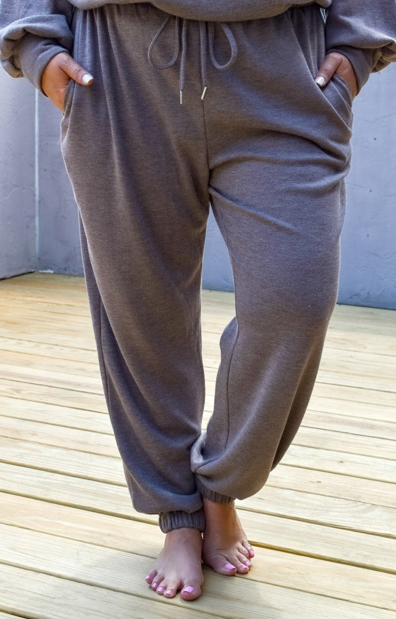 Just Lounging Around Joggers - Taupe