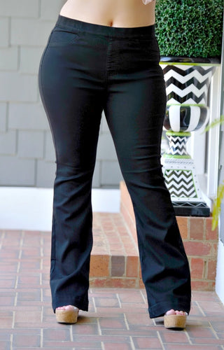 Right For Me Flare Jeggings - Black