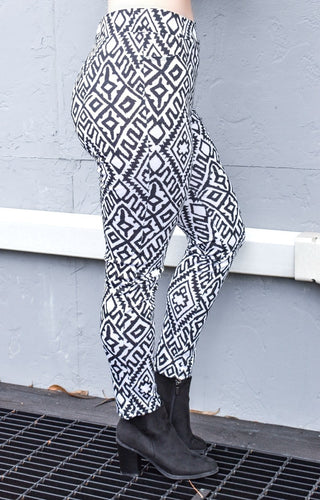 Next Level Print Pants - Black/White