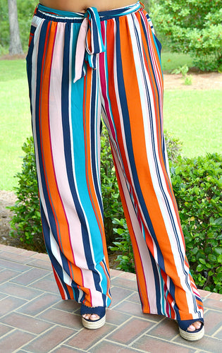 Time To Party Striped Pants - Multi